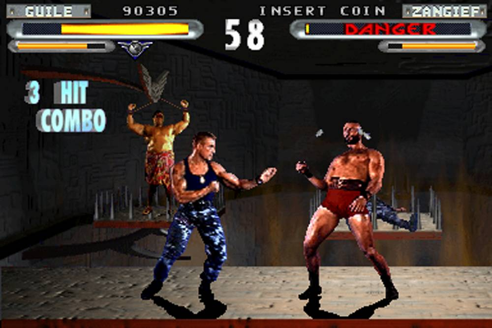 Combatants fight it out in Street Fighter: The Movie - The Game