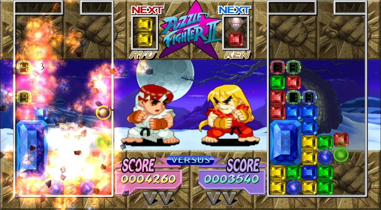 A gem-based puzzle game, with fighting.