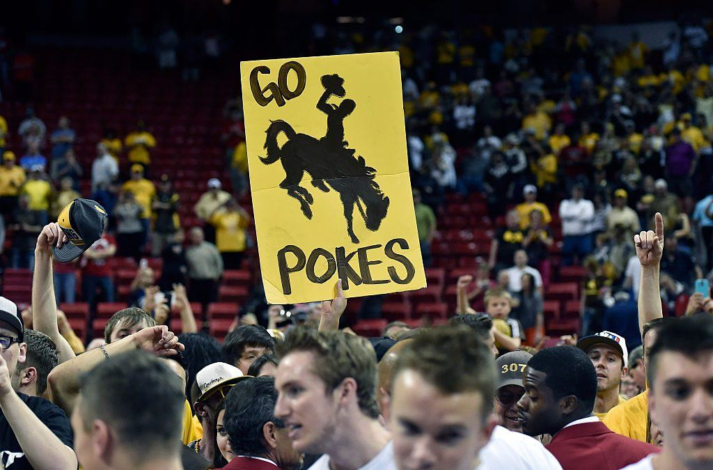 wyoming cowboys fans at a game