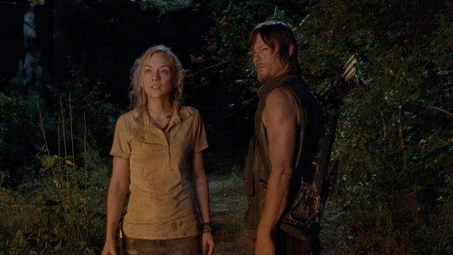 Beth (Emily Kinney) and Daryl (Norman Reedus) in a scene from AMC's 'The Walking Dead'