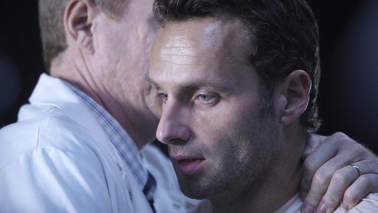 Dr. Edwin Jenner (Noah Emmerich) and Rick Grimes (Andrew Lincoln)