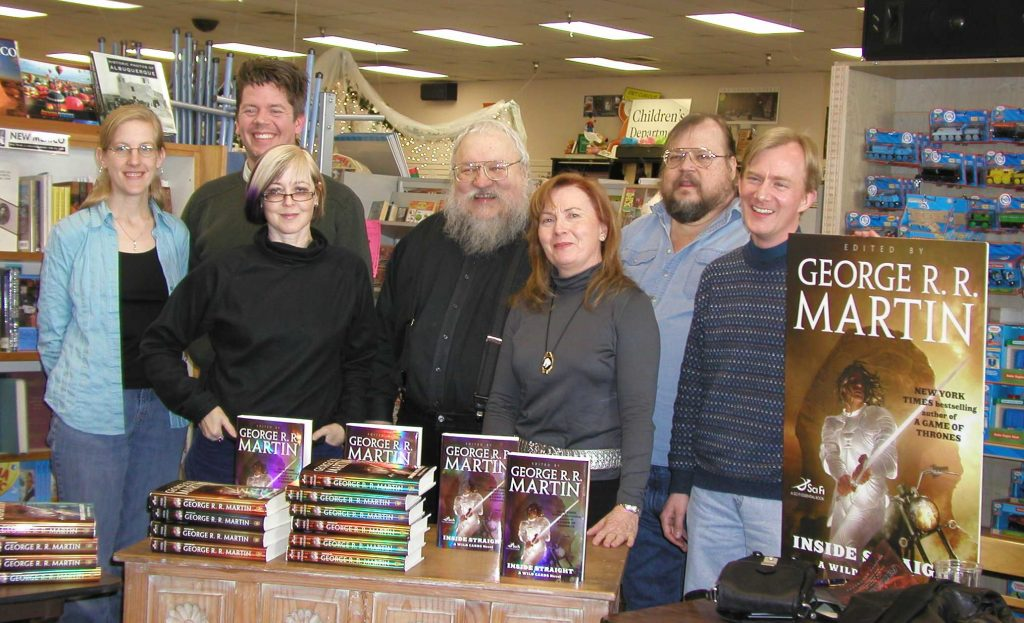 Wildcards writing team, with George R.R. Martin