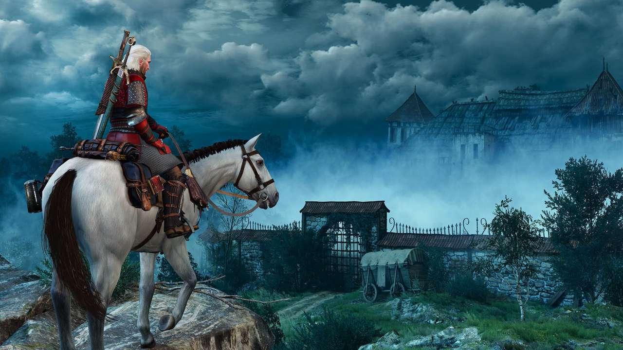 Geralt on a horse.