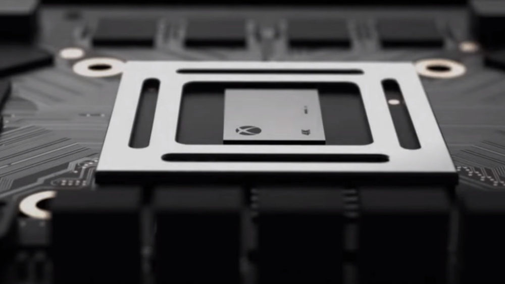 A chip that's powerful enough to be included in the Xbox One Scorpio.