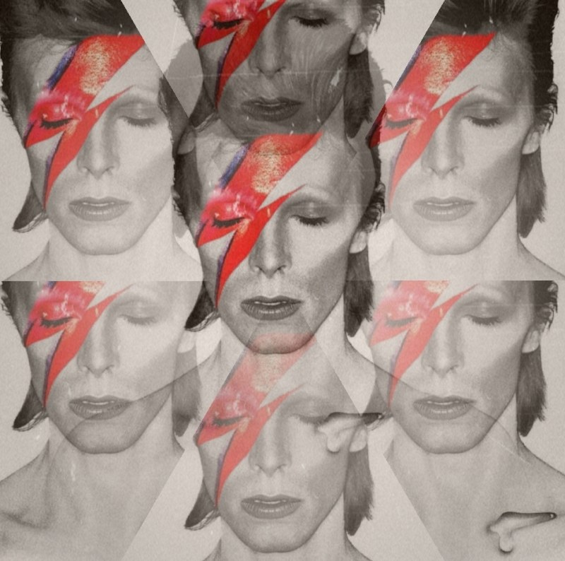 ziggy stardust collage