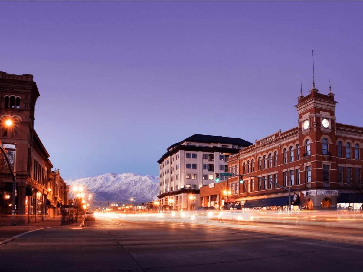 Downtown Provo, Utah -- the place to be if you want to be your own boss