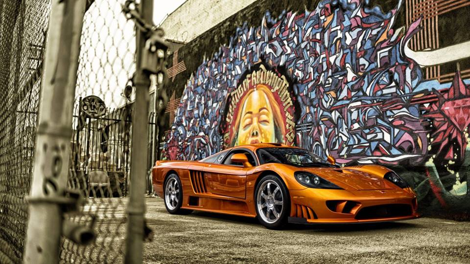 The Saleen S7 sits pretty in Tangerine