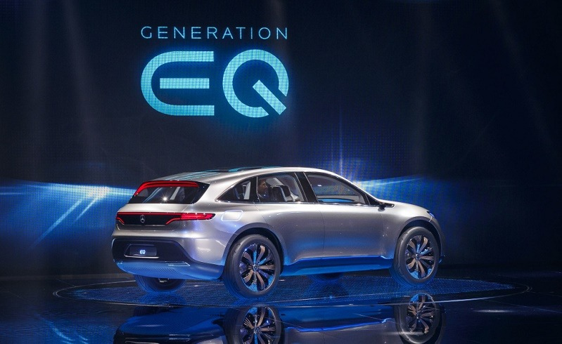 Mercedes-Benz und smart auf dem Autosalon Paris 2016. Weltpremiere des neuen Mercedes-Benz Showcars Generation EQ. ; Mercedes-Benz and smart at the Paris Auto Show 2016. World premiere of the new Showcar Generation EQ.;