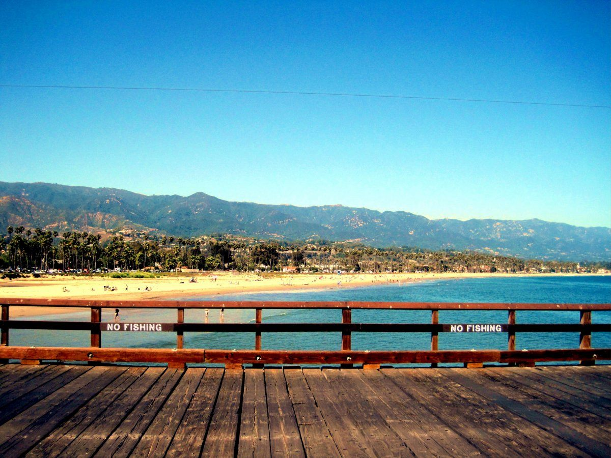 A boardwalk in Santa Barbara