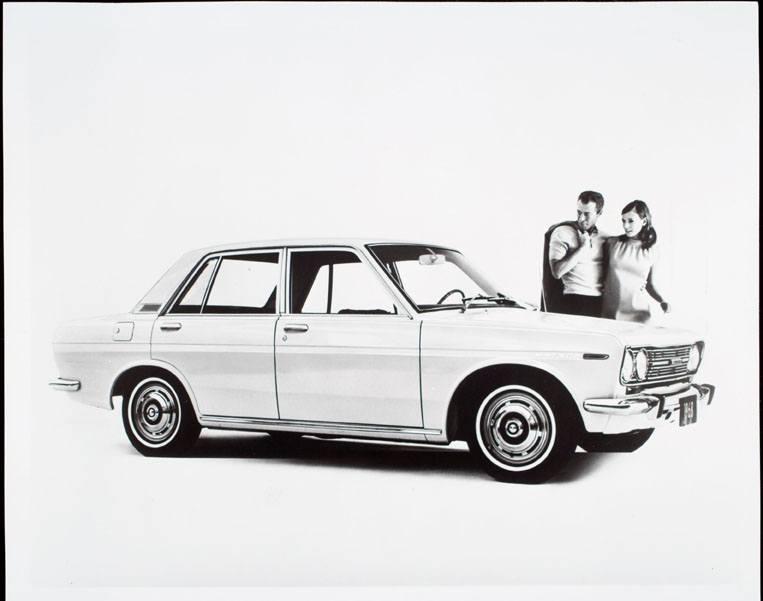 An advertisement for a 1968 Datsun 510