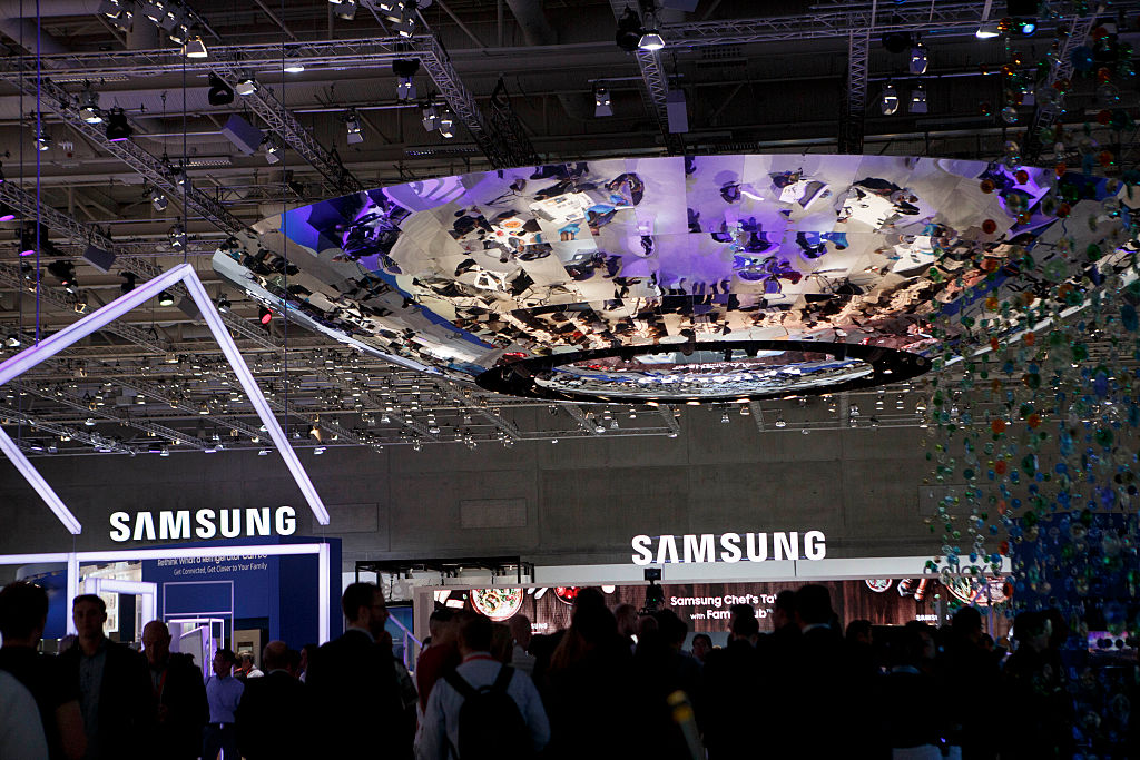 stand of Samsung at the 2016 IFA consumer electronics trade fair
