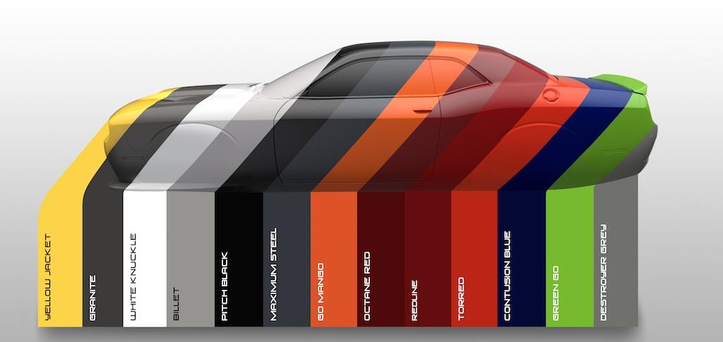2017 Dodge Challenger Colors