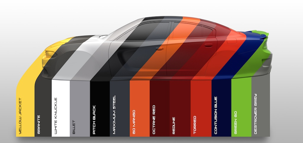 2017 Dodge Charger Colors