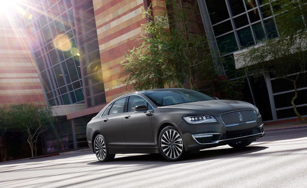 Shot of 2017 Lincoln MKZ in city setting