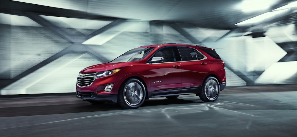 A red 2018 Chevrolet Equinox