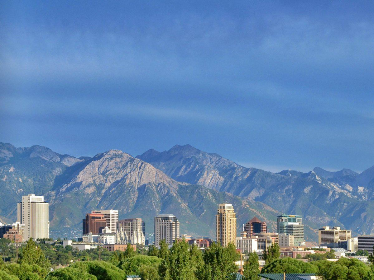 The Salt Lake City, Utah skyline