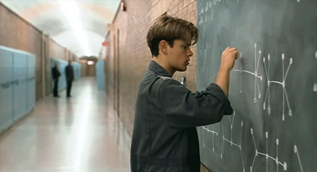 Matt Damon figures it all out in Good Will Hunting