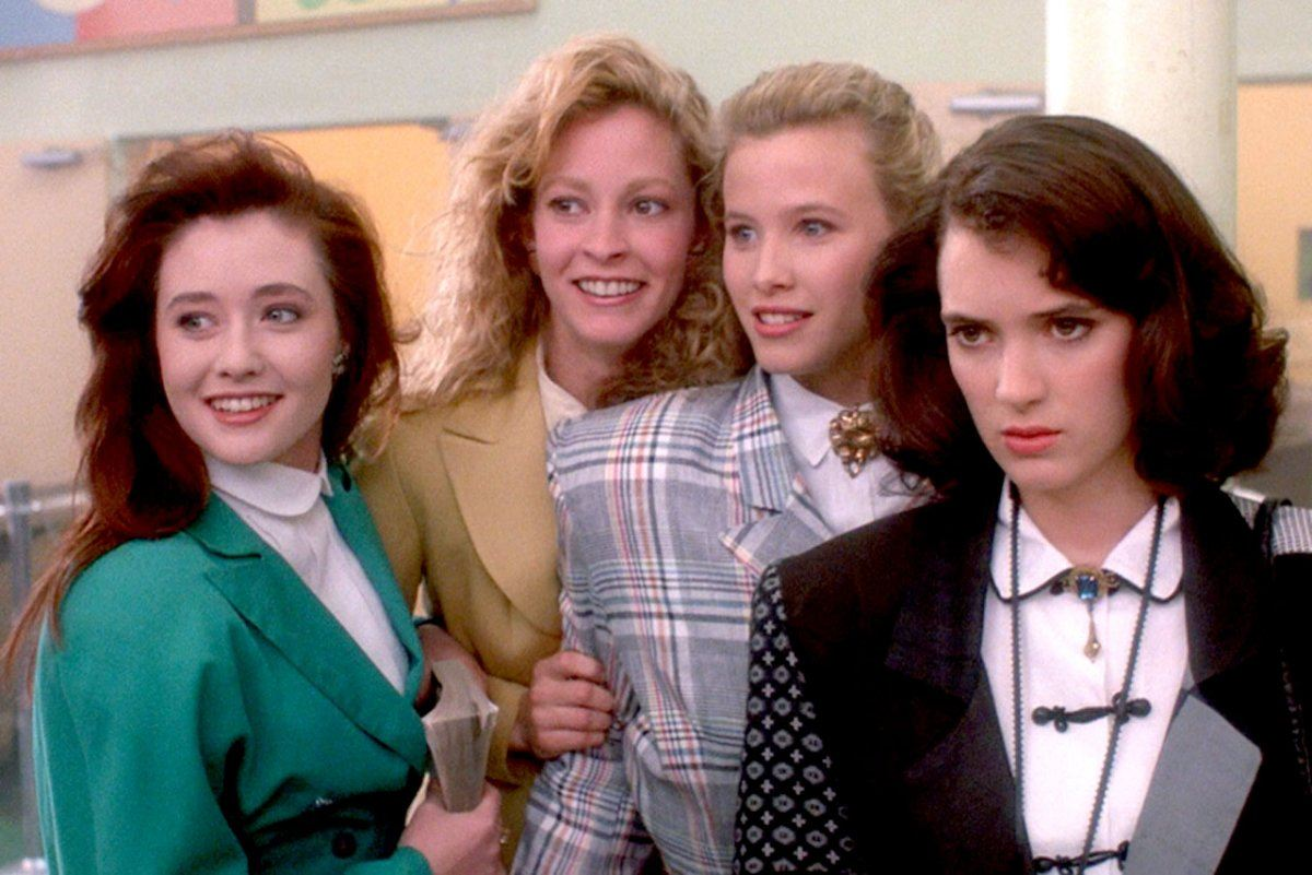 Shannen Doherty, Lisanne Falk, Kim Walker, and Winona Ryder in Heathers