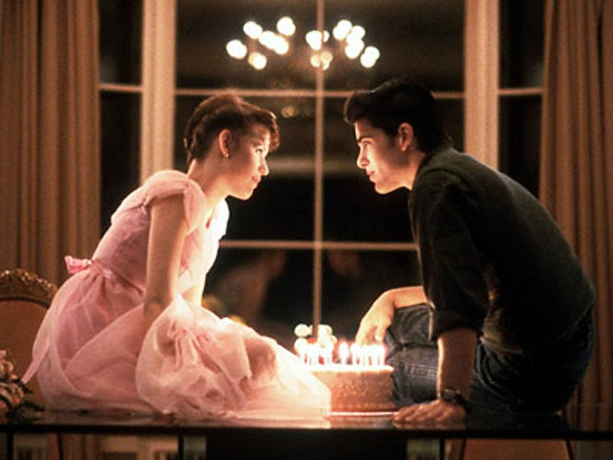 """candles on cake in """"Sixteen Candles"""""""