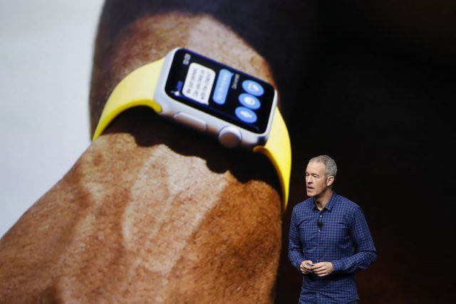 SAN FRANCISCO, CA - SEPTEMBER 07: Apple COO Jeff Williams announces Apple Watch Series 2 during a launch event on September 7, 2016 in San Francisco, California. Apple Inc. is expected to unveil latest iterations of its smart phone, forecasted to be the iPhone 7. The tech giant is also rumored to be planning to announce an update to its Apple Watch wearable device.