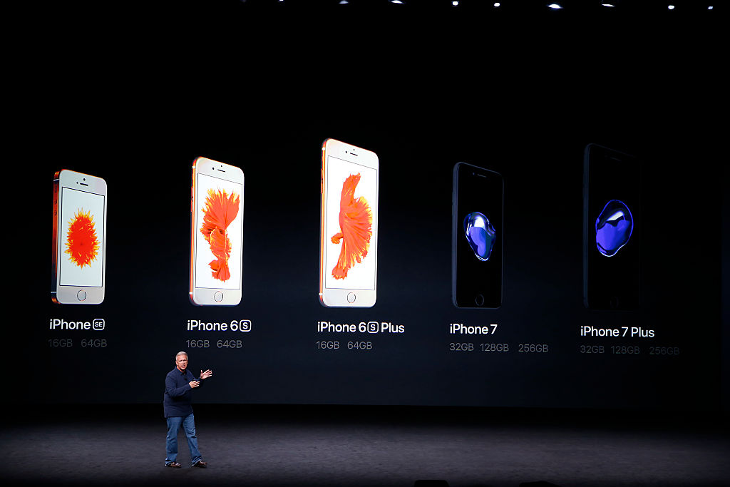 Apple Senior Vice President Phil Schiller speaks on stage
