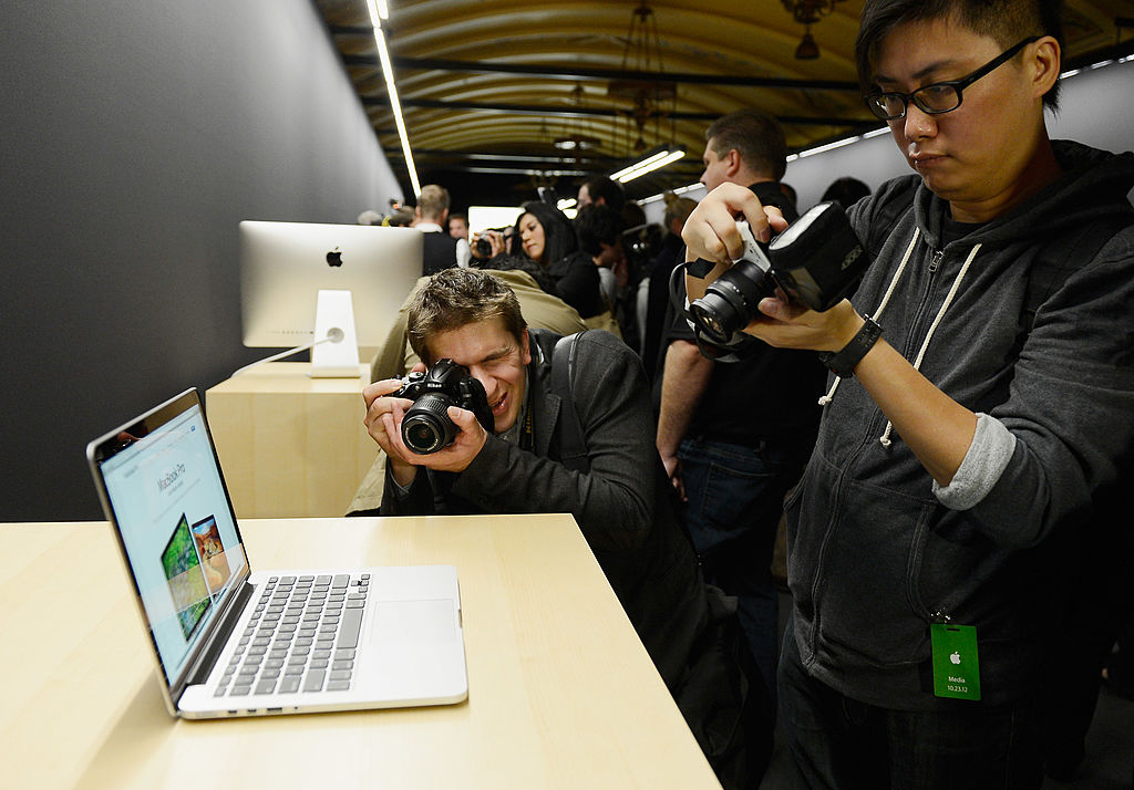 13-inch MacBook Pro is displayed after it was unveiled during an Apple special event