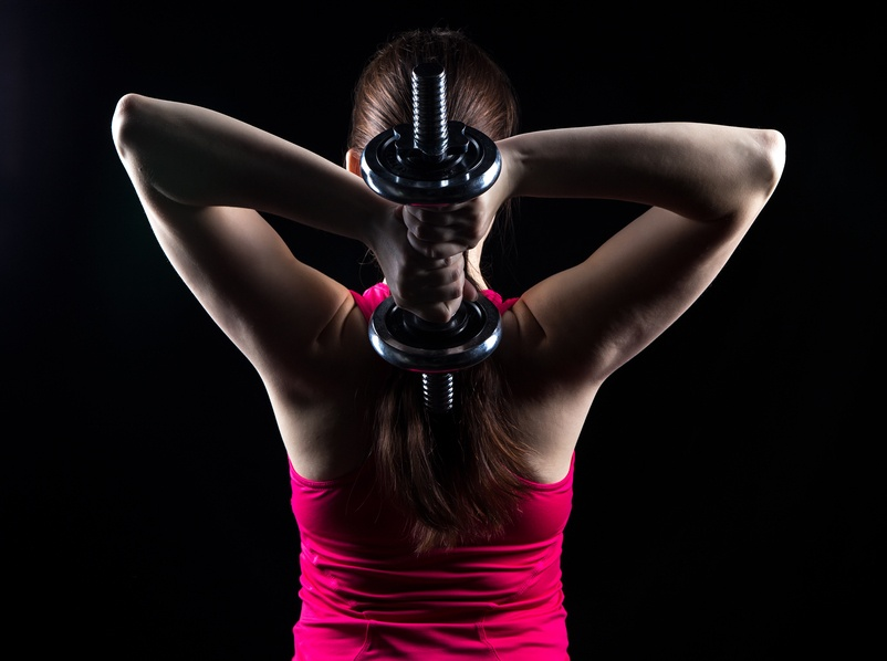 Athlete with kettlebell
