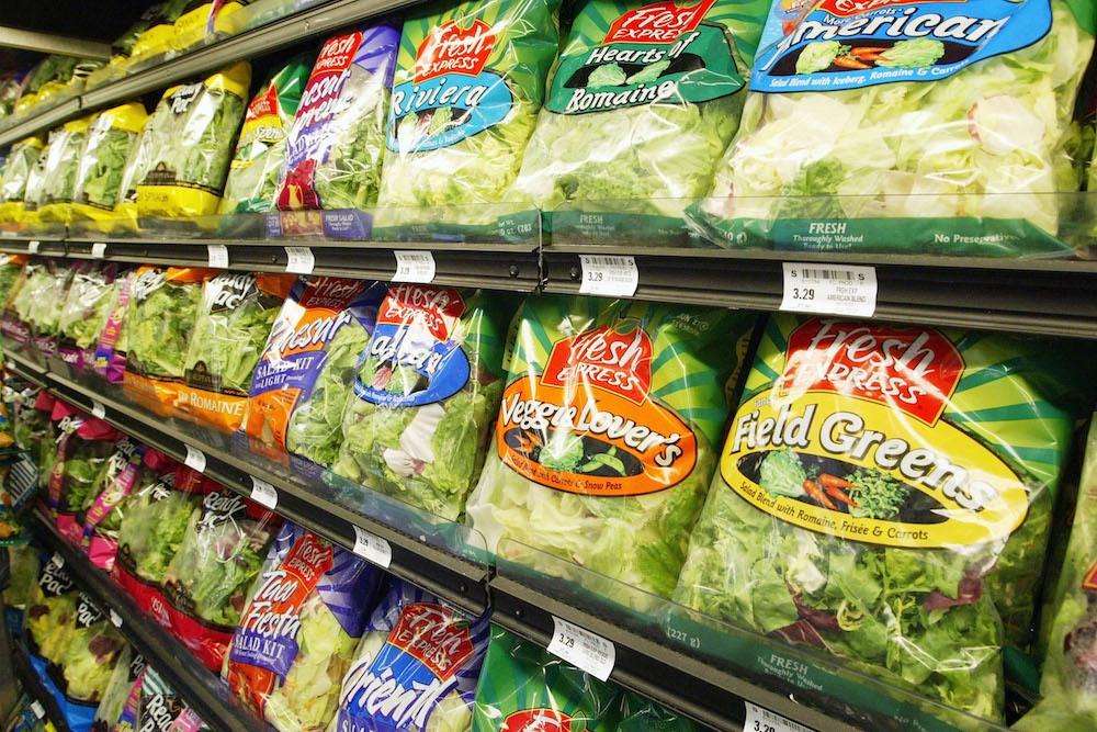 bagged lettuce