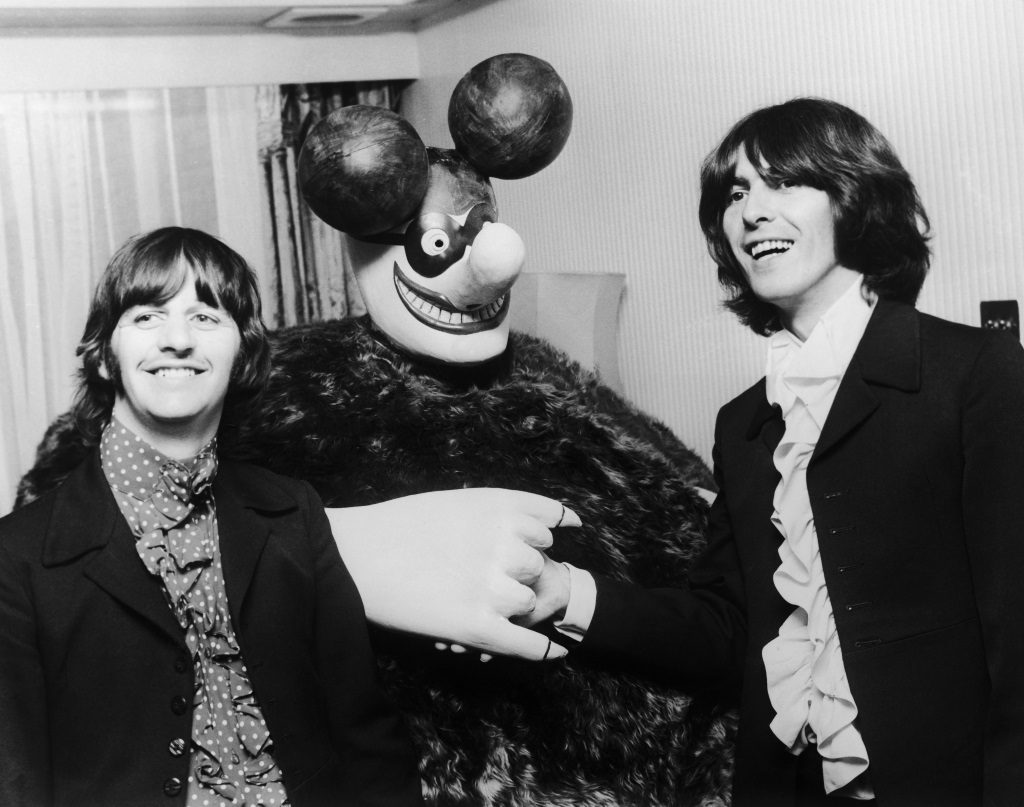 Beatles with Blue Meanie
