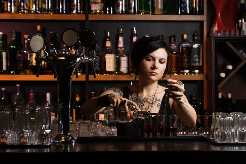 bartender with cocktail