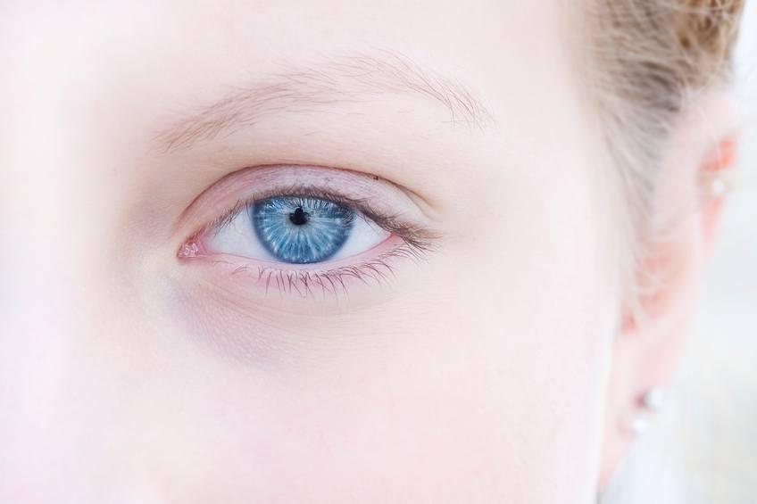 young woman's eye