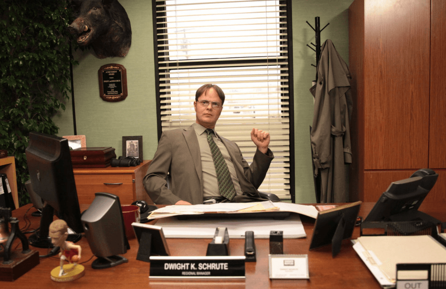 "Dwight as the boss on ""The Office"""