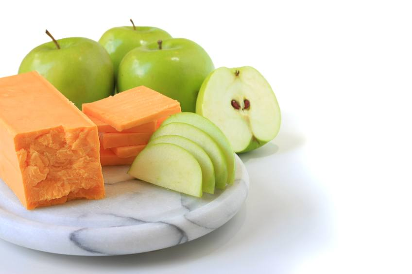 Cheese and apple snack