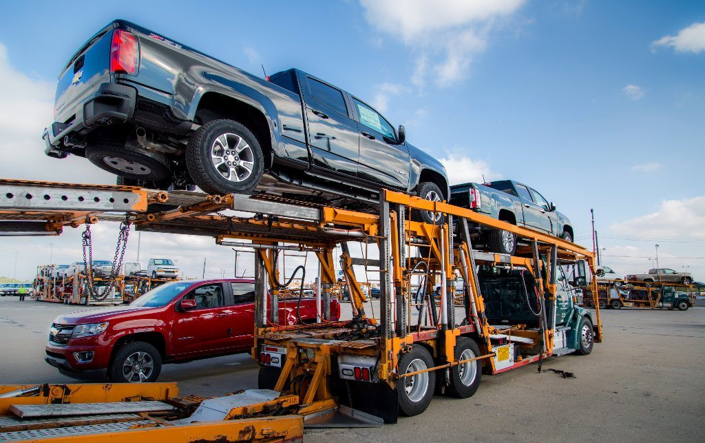 Shipment of Chevy trucks to dealers