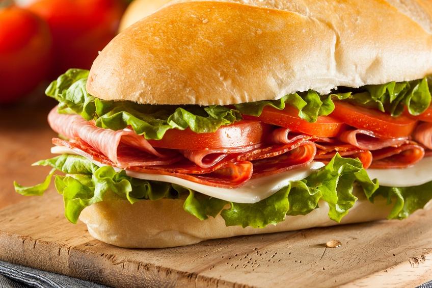 Italian Sub Sandwich with Salami