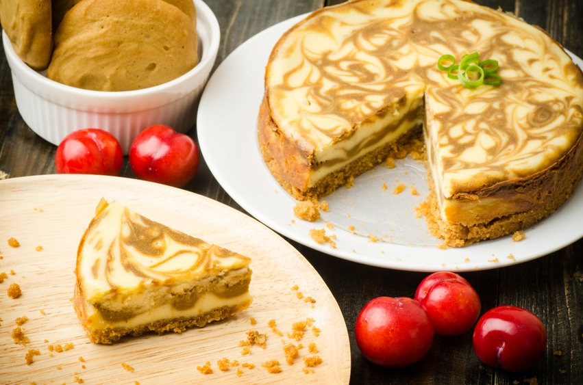 Homemade Coffee marble cheesecake