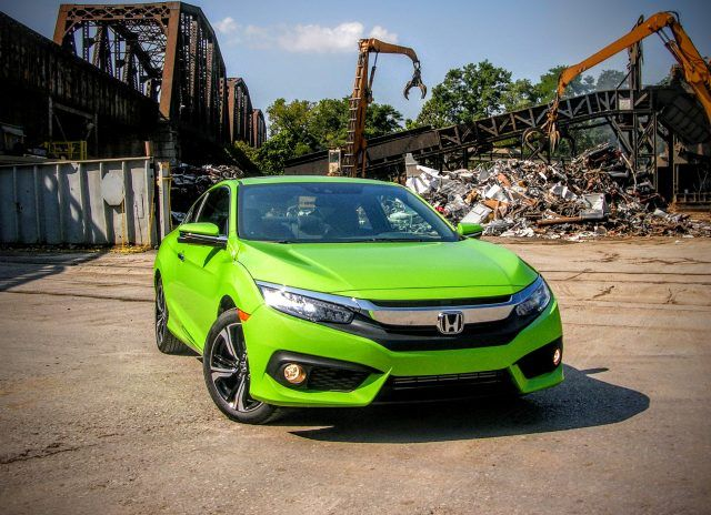 The 2016 Honda Civic 1.5T Touring Coupe has a zero to 60 time of 6.9 seconds