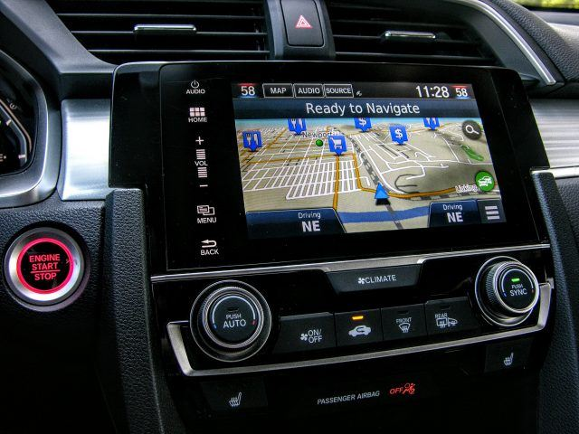 Infotainment touchscreen