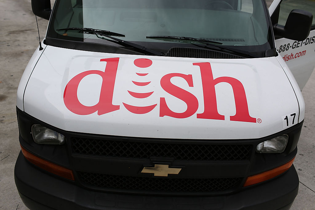 A Dish Network truck is seen on June 4, 2015 in Miami, Florida.