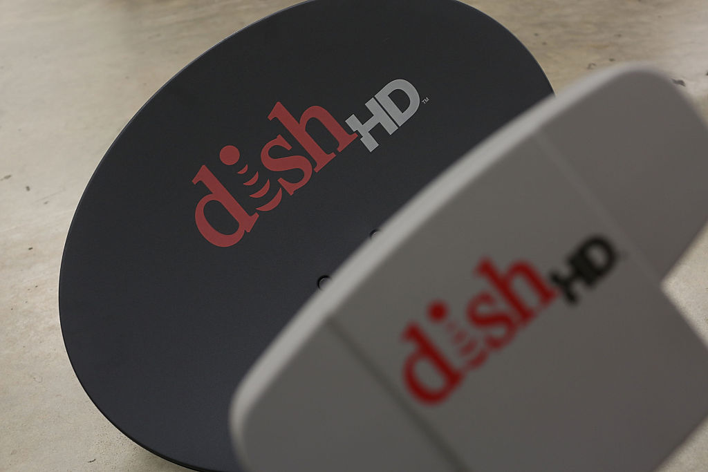A Dish Network receiver is seen on June 4, 2015 in Miami, Florida