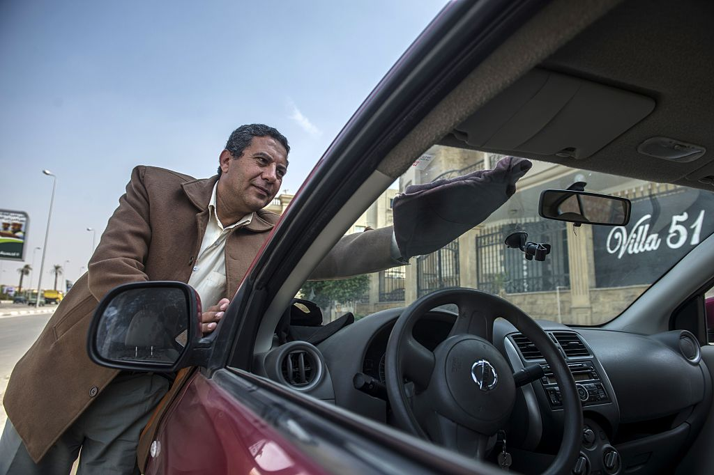an Egyptian driver working for Uber Transportation Company
