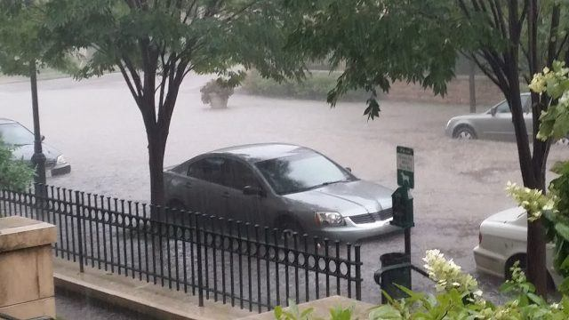 Flooded cars in Cincinnati that are beyond saving