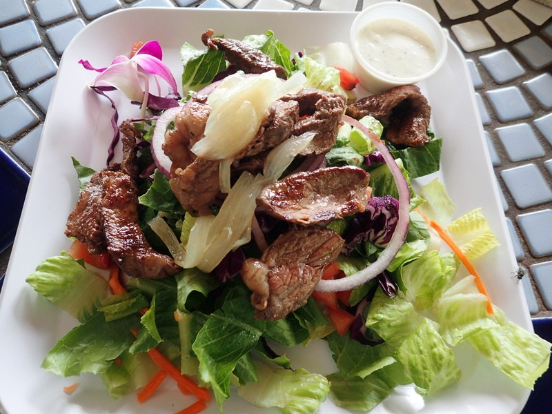 Steak Salad with lettuce