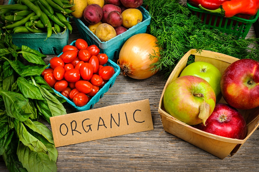 Fresh organic farmers market fruit and vegetable