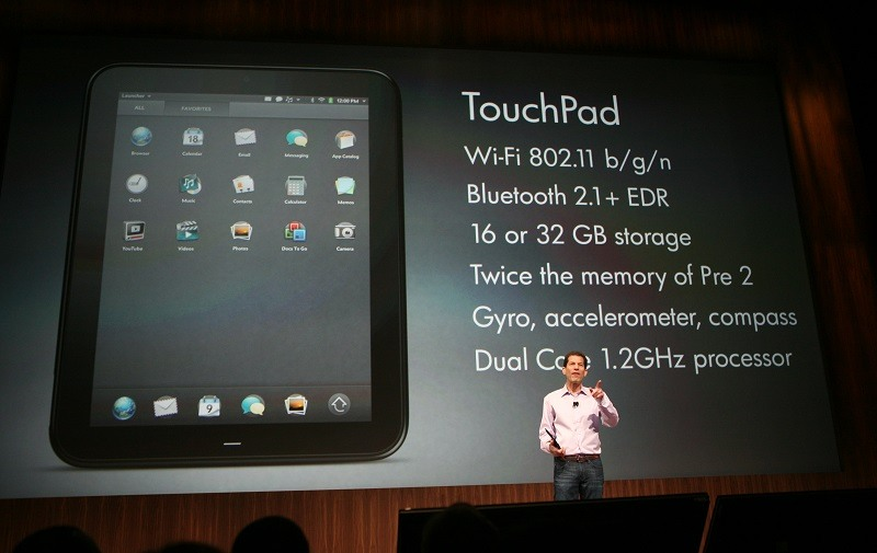 Jon Rubinstein, senior vice president and general manager of HP Palm, introduces the HP Touchpad back in 2011