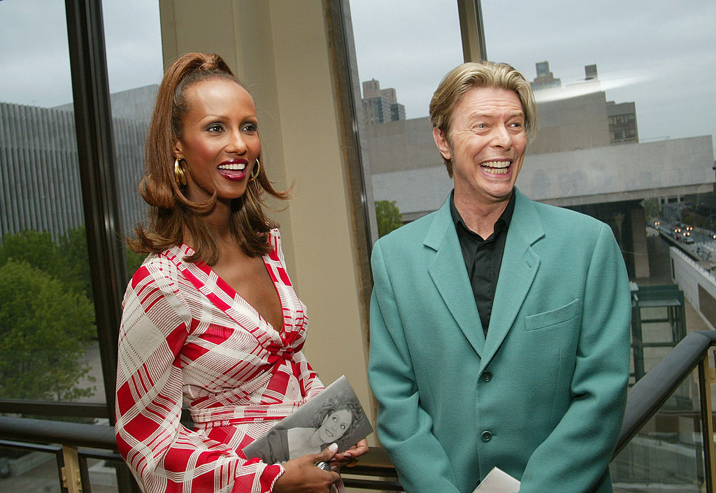 David Bowie and his wife, Iman