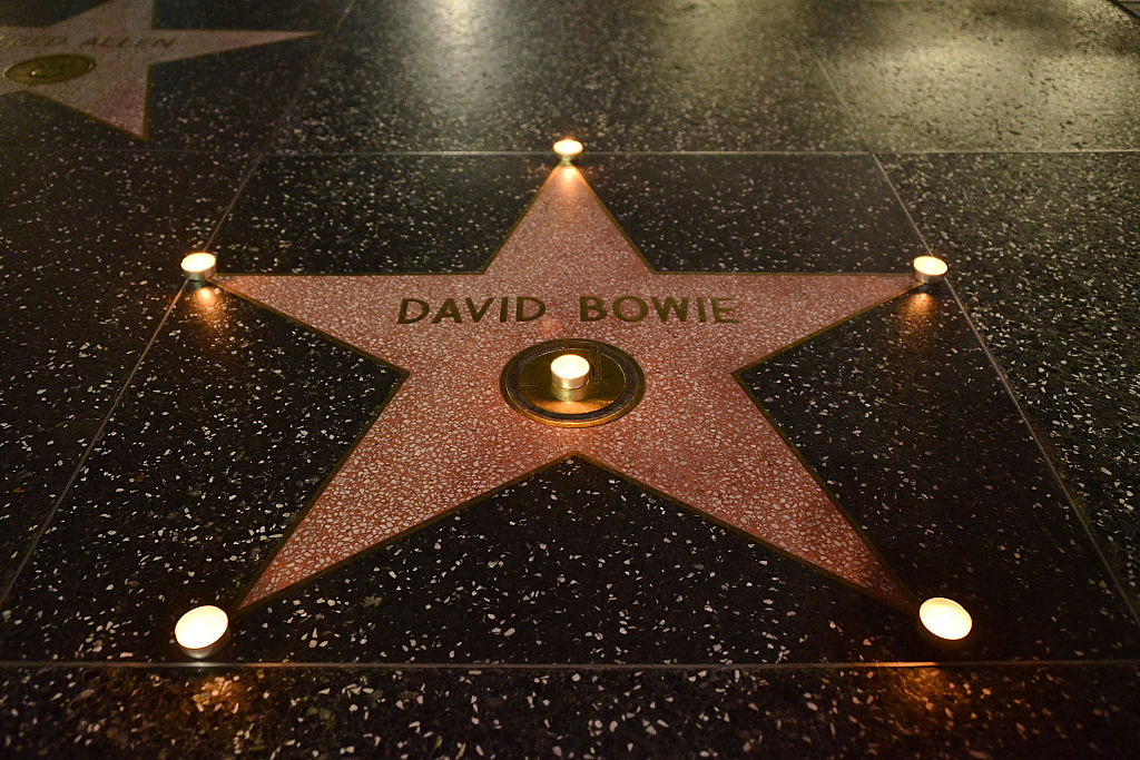 David Bowie's Hollywood Walk of Fame star wtih cancels on it