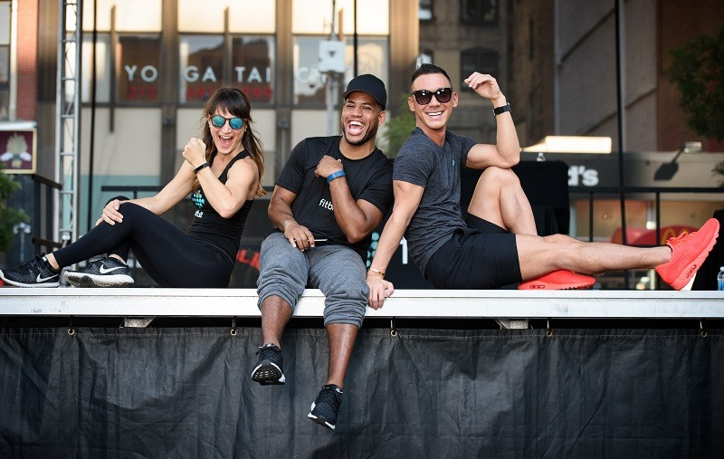 Fitbit ambassadors show off their fitness trackers