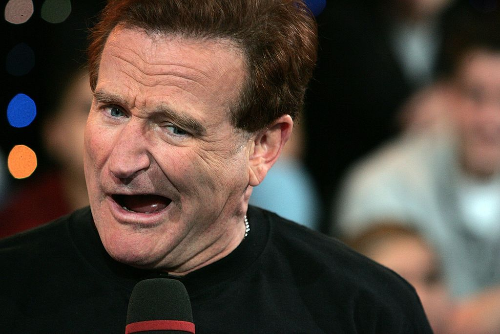 Robin Williams appears onstage during MTV's Total Request Live