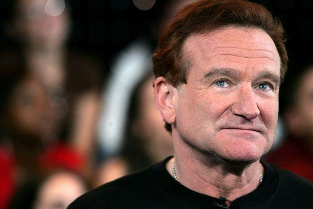 Robin Williams onstage during MTV's Total Request Live